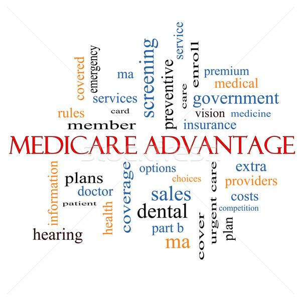 Medicare Advantage Word Cloud Concept  Stock photo © mybaitshop
