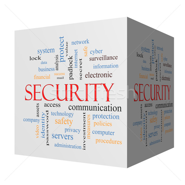 Security 3D cube Word Cloud Concept Stock photo © mybaitshop