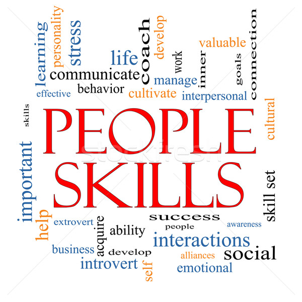 People Skills Word Cloud Concept Stock photo © mybaitshop