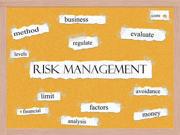 Risk Management Corkboard Word Concept Stock photo © mybaitshop
