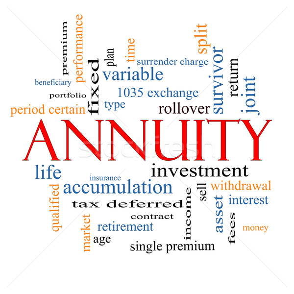 Annuity Word Cloud Concept Stock photo © mybaitshop