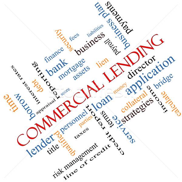 Comercial nuvem da palavra empréstimo honorários negócio Foto stock © mybaitshop