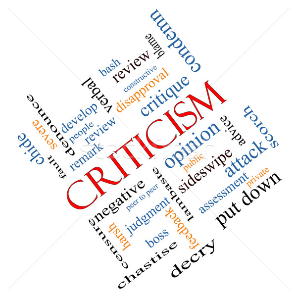 Stock photo: Criticism Word Cloud Concept Angled