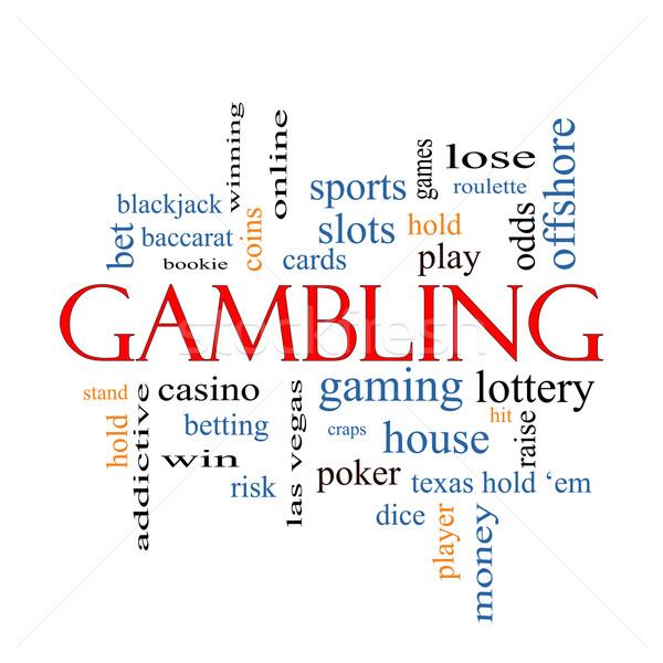 Glücksspiel Wort-Wolke groß gewinnen Quote Casino Stock foto © mybaitshop