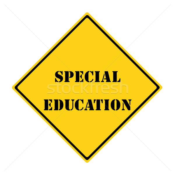 Special Education Sign Stock photo © mybaitshop