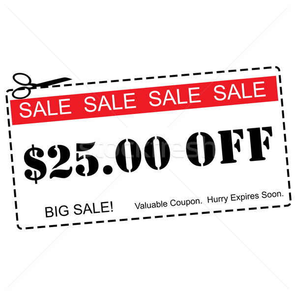 Twenty Five Dollars Off Sale Coupon Stock photo © mybaitshop