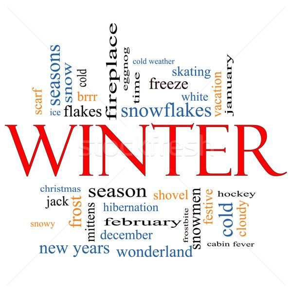 Winter Word Cloud Concept Stock photo © mybaitshop