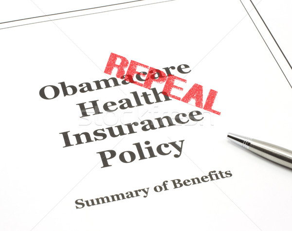 Repeal Stamped on Obamacare Stock photo © mybaitshop