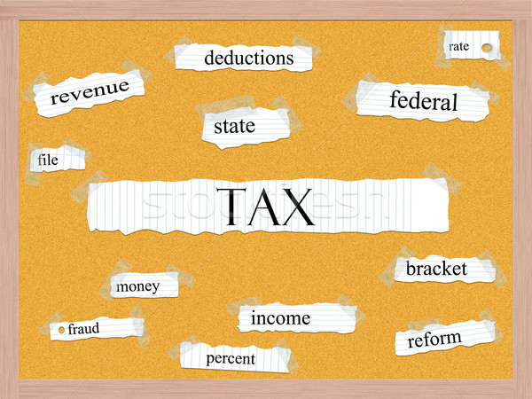 Tax Corkboard Word Concept Stock photo © mybaitshop