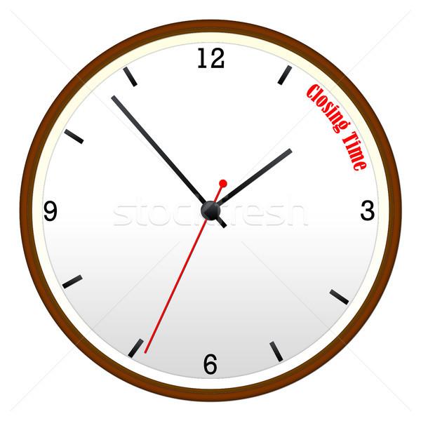 Closing Time Wall Clock Stock photo © mybaitshop