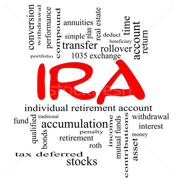IRA Word Cloud Concept in red caps Stock photo © mybaitshop