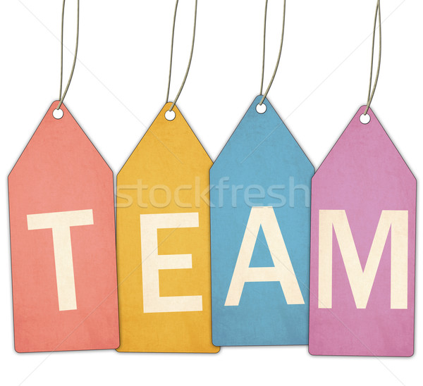 Team Colorful Tags and String Stock photo © mybaitshop