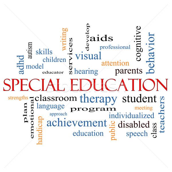 Speciaal onderwijs woordwolk groot student programma Stockfoto © mybaitshop