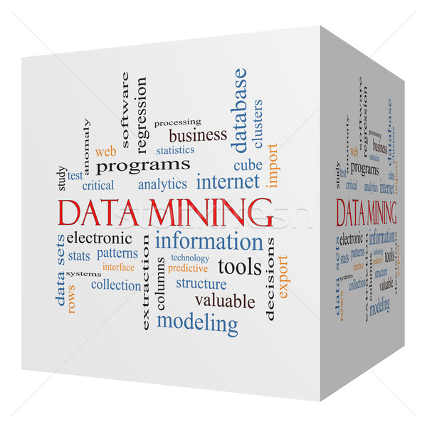 Data Mining 3D cube Word Cloud Concept Stock photo © mybaitshop