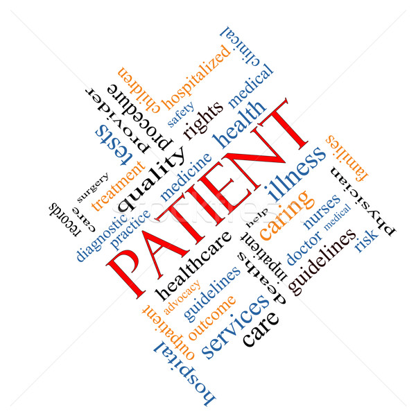 Patient Word Cloud Concept Angled Stock photo © mybaitshop