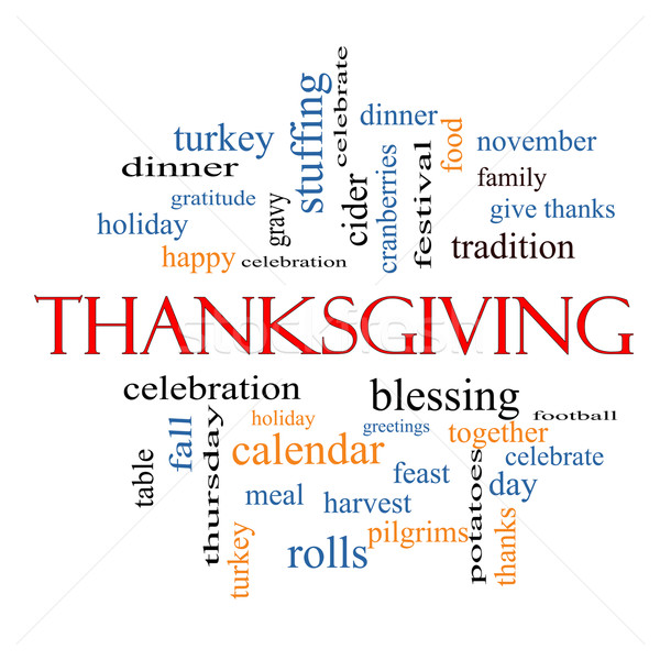 Thanksgiving Word Cloud Concept Stock photo © mybaitshop