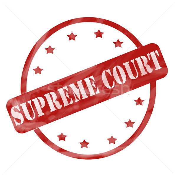 Red Weathered Supreme Court Stamp Circle and Stars Stock photo © mybaitshop