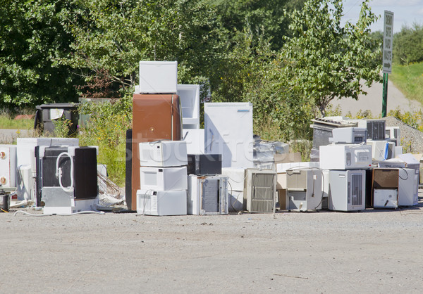 Old Appliances at a Garbage Dump Stock photo © mybaitshop