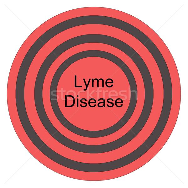 Lyme Disease Red Bullseye Stock photo © mybaitshop