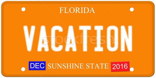 休暇 フロリダ ナンバープレート 模倣 12月 2016 ストックフォト © mybaitshop