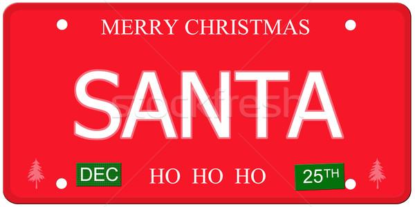номерной знак имитация декабрь написанный Сток-фото © mybaitshop