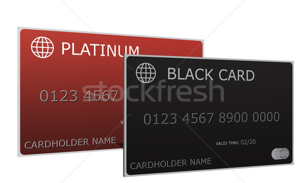 Platinum and Black Credit Cards Stock photo © mybaitshop