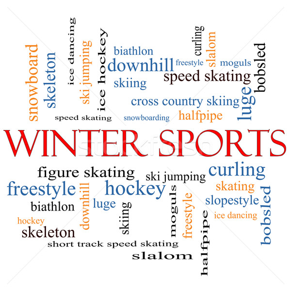 Winter Sports Word Cloud Concept Stock photo © mybaitshop