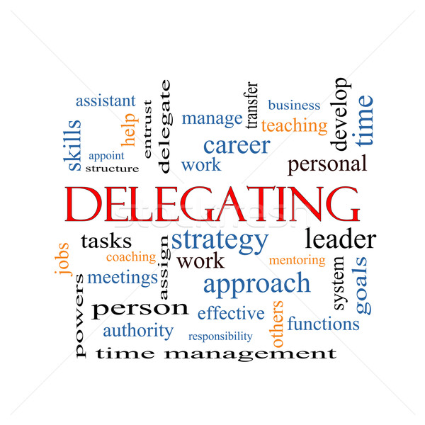 Delegating Word Cloud Concept Stock photo © mybaitshop