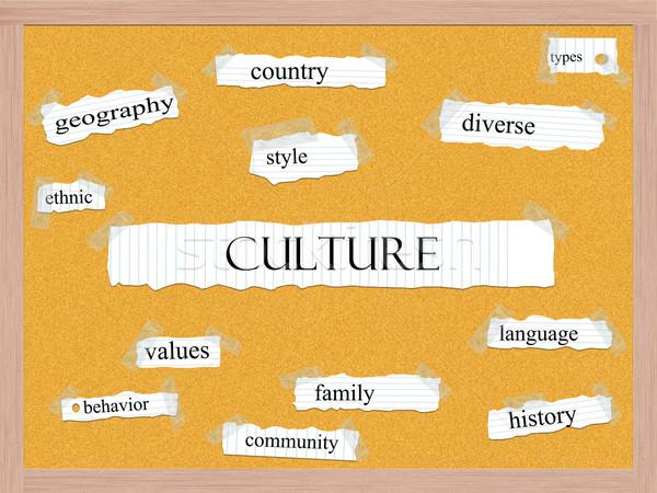 Culture Corkboard Word Concept Stock photo © mybaitshop