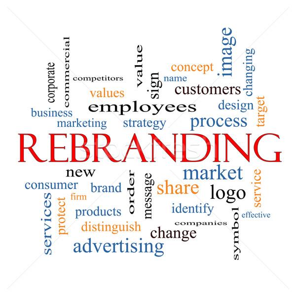 Kelime bulutu muhteşem pazar iş logo daha fazla iş Stok fotoğraf © mybaitshop