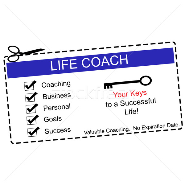 Life Coach Coupon Blue and White Stock photo © mybaitshop