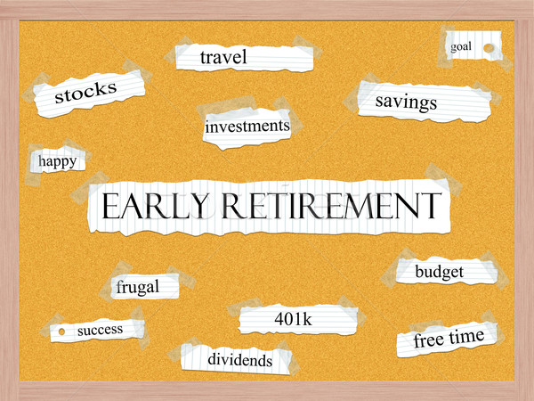 Early Retirement Corkboard Word Concept Stock photo © mybaitshop