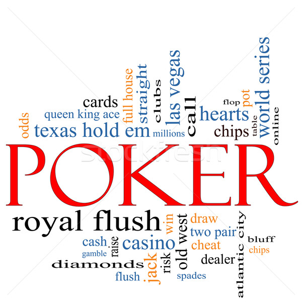 Poker Word Cloud Concept Stock photo © mybaitshop