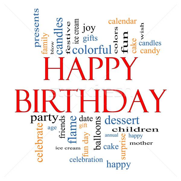 Happy Birthday Word Cloud Concept Stock photo © mybaitshop