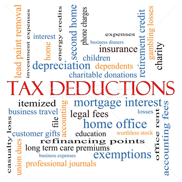 Tax Deductions Word Cloud Concept Stock photo © mybaitshop