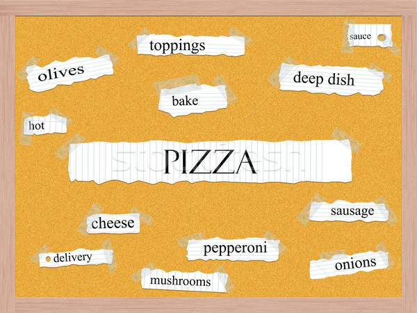 Pizza Corkboard Word Concept Stock photo © mybaitshop
