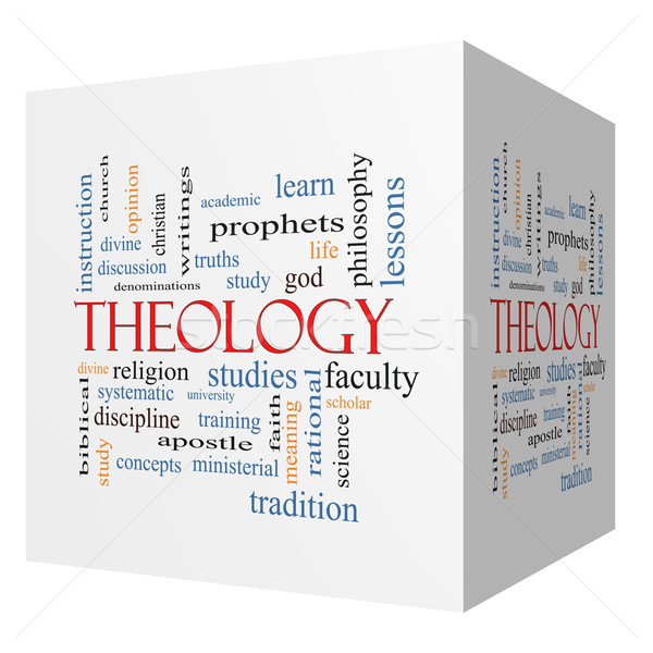 Theology 3D cube Word Cloud Concept Stock photo © mybaitshop