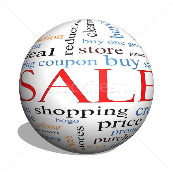 販売 3D 球 言葉の雲 ショッピング ストックフォト © mybaitshop