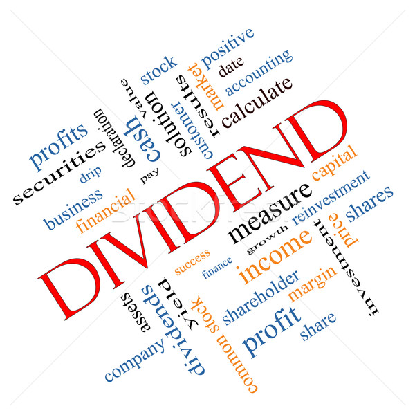 Dividend Word Cloud Concept angled Stock photo © mybaitshop