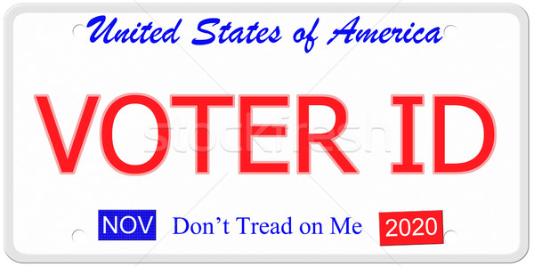 Voter ID license plate Stock photo © mybaitshop