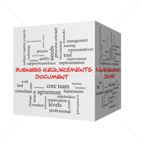 Business documento 3D word cloud rosso Foto d'archivio © mybaitshop