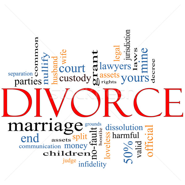 Divorce Word Cloud Concept Stock photo © mybaitshop
