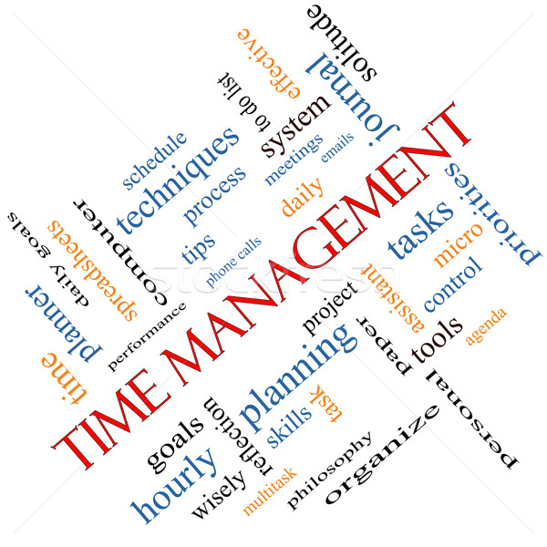 Time Management Word Cloud Concept Angled Stock photo © mybaitshop