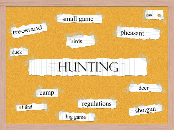 Hunting Corkboard Word Concept Stock photo © mybaitshop