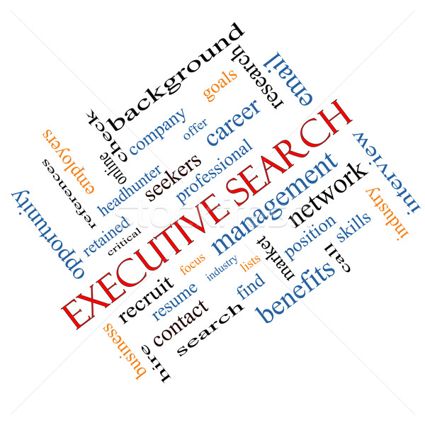 Executive Search Word Cloud Concept Angled Stock photo © mybaitshop