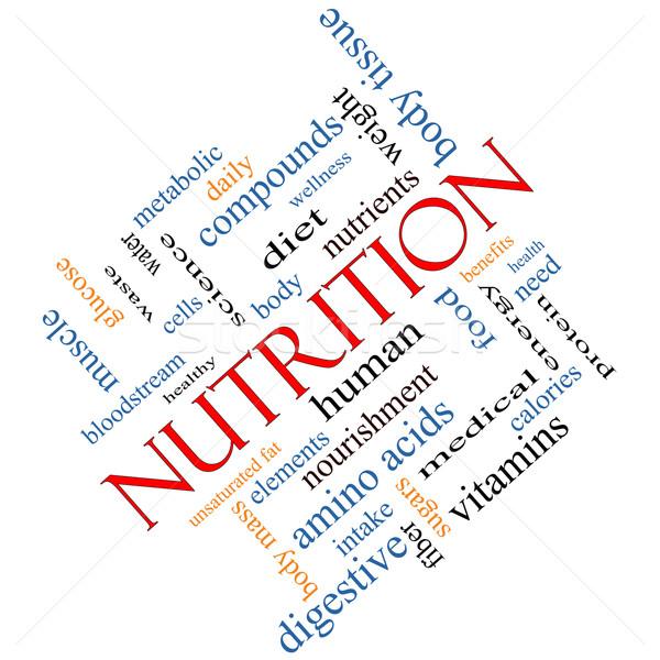 Nutrition Word Cloud Concept Angled Stock photo © mybaitshop