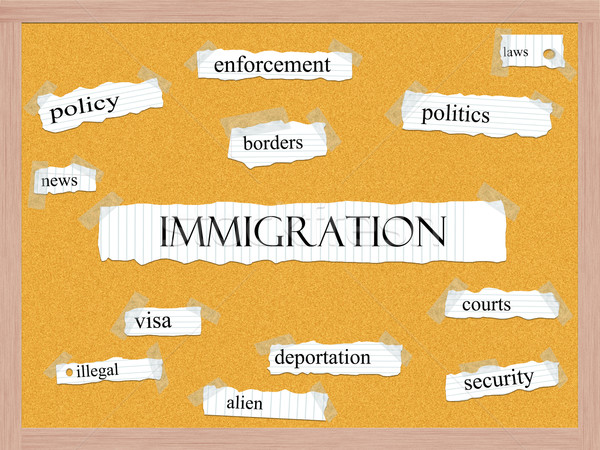 Immigration Corkboard Word Concept Stock photo © mybaitshop