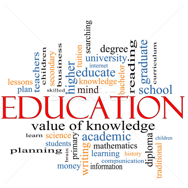 Education Word Cloud Concept Stock photo © mybaitshop