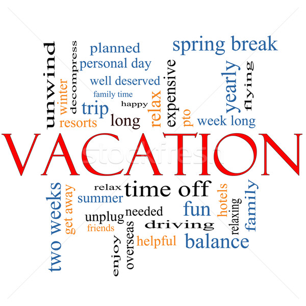 Vacation Word Cloud Concept Stock photo © mybaitshop