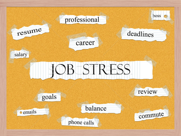 Job Stress Corkboard Word Concept Stock photo © mybaitshop